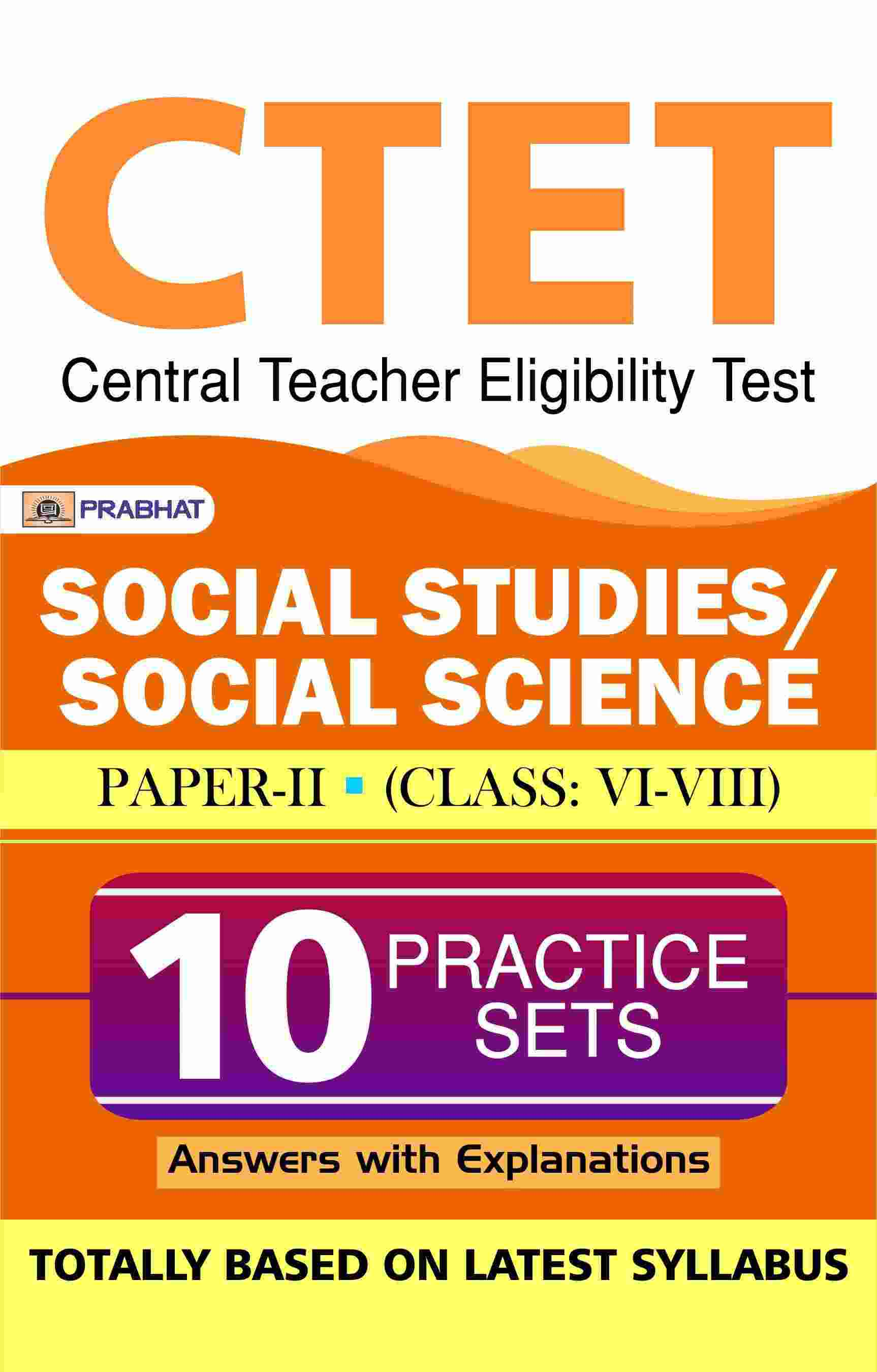 CTET Central Teacher Eligibility Test Paper-II (class: VI-VIII) Social...