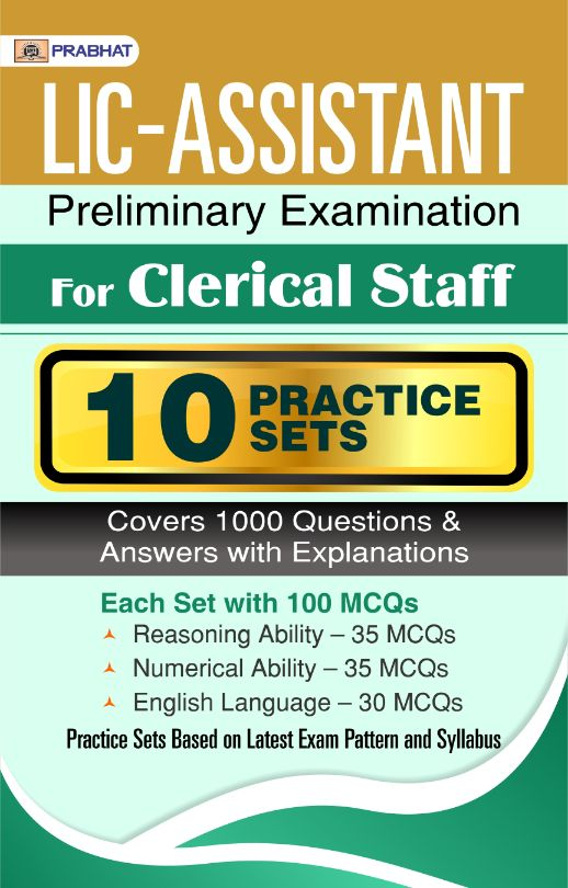 LIC-Assistant Preliminary Examination For Clerical Staff 10 Practice S...
