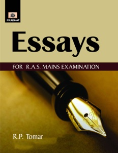 Essays for RAS Mains Exmainations
