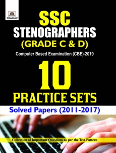 SSC STENOGRAPHER (GRADE C AND D) COMPUTER BASED EXAMINATION (CBE)-2019...